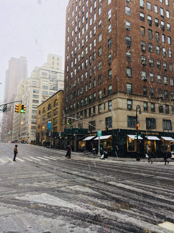 Snowstorm in NYC